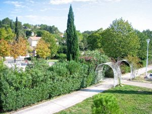 Photo des jardins de la clinique Aramav